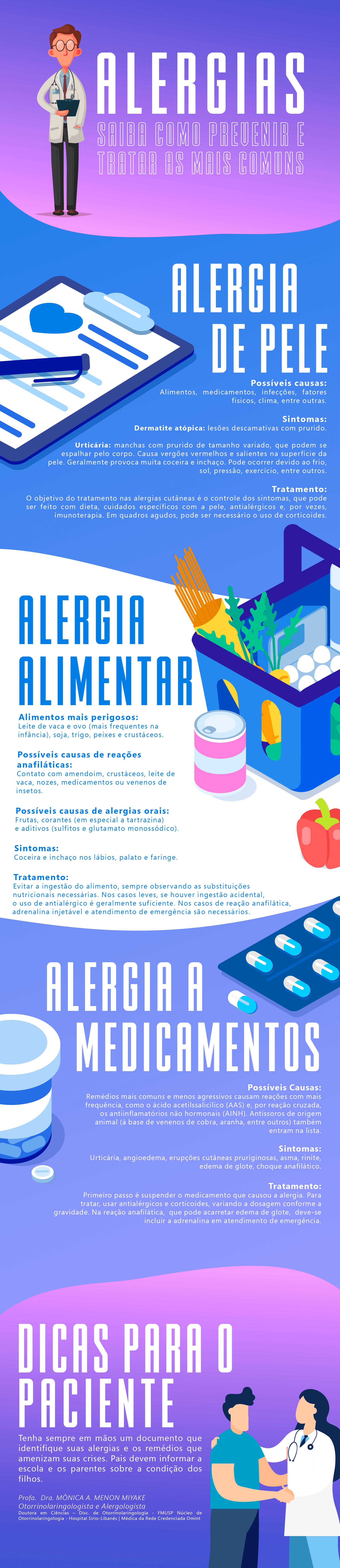 Alergias: saiba como prevenir e tratar as mais comuns [Infográfico]